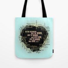 In the Beginning. John 1:1 Print. Tote Bag