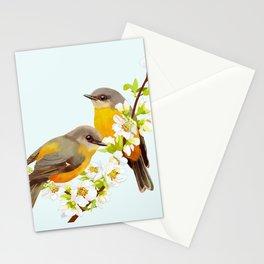 bird in cherry tree Stationery Cards