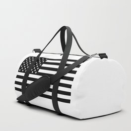 Black And White Stars And Stripes Duffle Bag
