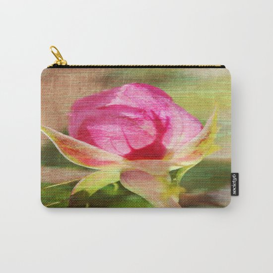 Vintage Rose Bud Carry-All Pouch