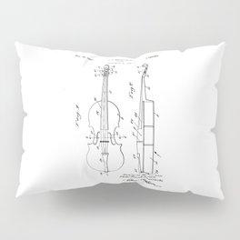 patent art Brown et al Violin 1930 Pillow Sham