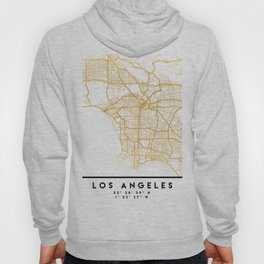 LOS ANGELES CALIFORNIA CITY STREET MAP ART Hoody