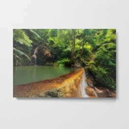 Thermal pool in Azores Metal Print