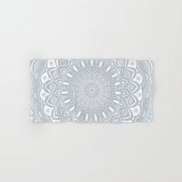 Cool Gray Mandala Simplistic Bold Minimal Minimalistic Hand & Bath Towel