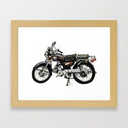 Motorcycle (Red & Black) Framed Art Print