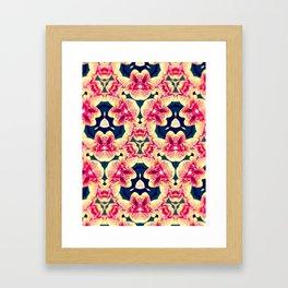 Kaleidoscope Orchids Framed Art Print