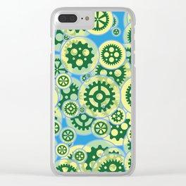 Gearwheels Clear iPhone Case