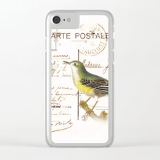 French bird Clear iPhone Case