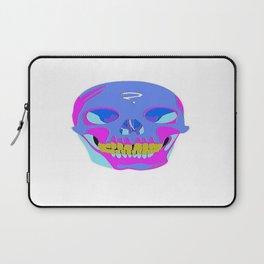 Neon Pixel Psychaedelic Halloween Skull  Laptop Sleeve