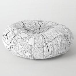 Minneapolis Map White Floor Pillow