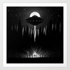 Drawlloween 2014: Alien Art Print