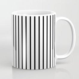 Black Pinstripe On White Pattern Coffee Mug