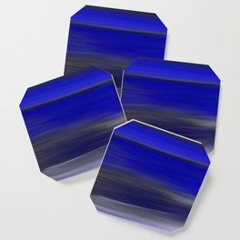 Dark Night Seascape Abstract In Blue Coaster