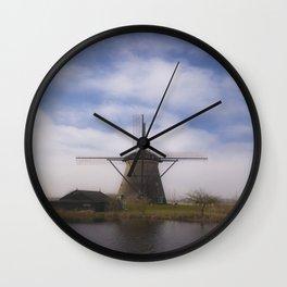 Kinderdijk Windmill III Wall Clock