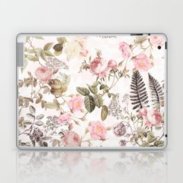 Vintage & Shabby Chic - Blush Roses and Fern Leaf Laptop & iPad Skin