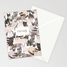 Cat lady Stationery Cards