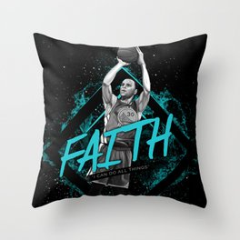 Steph Curry Motivation Art and Quote Throw Pillow