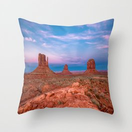Westward Dreams - Sunset in Monument Valley Throw Pillow