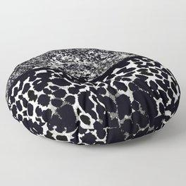 Animal Print Leopard Gray White and Black Floor Pillow
