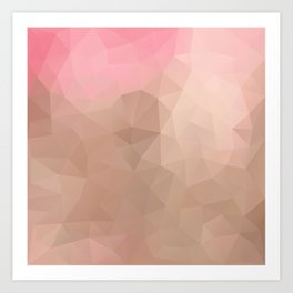 """Strawberry chocolate milkshake"" triangles design Art Print"