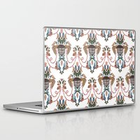 baroque Laptop & iPad Skins featuring Bird Baroque by Deborah Panesar Illustration
