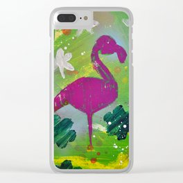 Beverly Hills Flamingo Clear iPhone Case