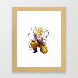 Goku Super Saiyan 2 Framed Art Print