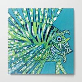 Lion Fish 1, a pretty predator Metal Print