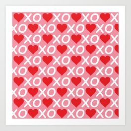 Custom Valentine's Day Pattern Art Print