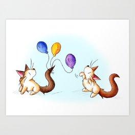 Party Prep Playfulness Art Print