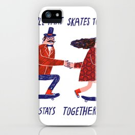 skate couple iPhone Case