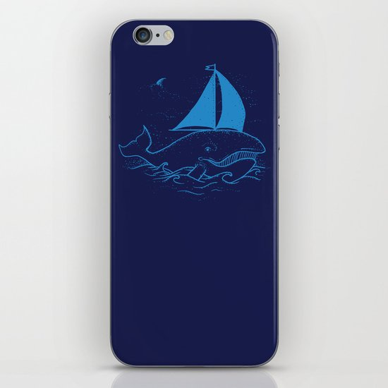 Whaleboat iPhone & iPod Skin