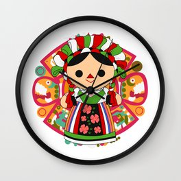 Maria 5 (Mexican Doll) Wall Clock