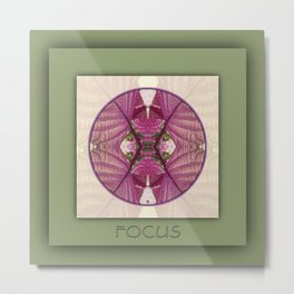 Focus Manifestation Mandala No. 5 Metal Print