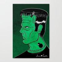 frankenstein Canvas Prints featuring Frankenstein by JoanaRosaC