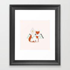 Fox in the mountain Framed Art Print