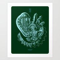 xenomorph Art Prints featuring Xenomorph by Jordan Lewerissa