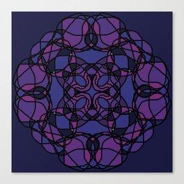 Purple and Blue Modern Canvas Print
