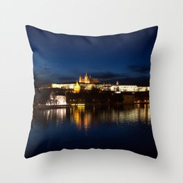 Prague Castle @night Throw Pillow