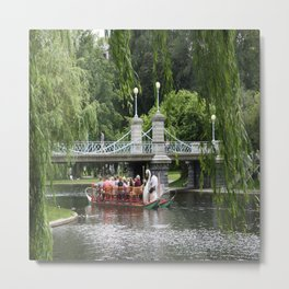 Boston Swan Boat Metal Print
