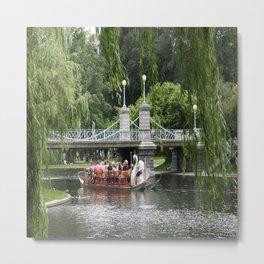 Boston Swan Boat Metal Print