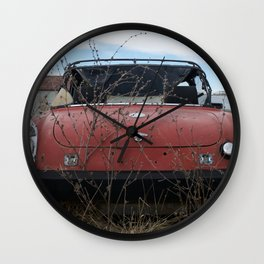 Beat Up Car Wall Clock