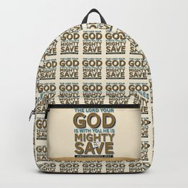 He is Mighty to Save! Backpack