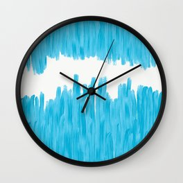 Sea of Blue Painted Wall Clock
