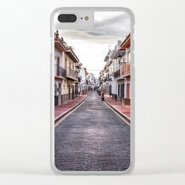 Cloudy Day, Nerja Clear iPhone Case