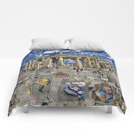 Brandenburg Gate - Photomontage Collage Comforters