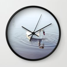 the beautiful swan Wall Clock