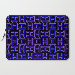 Color Solid Fill Style Hi Pattern Alphabet Lettering Laptop Sleeve