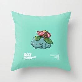 003 Venusaur Throw Pillow