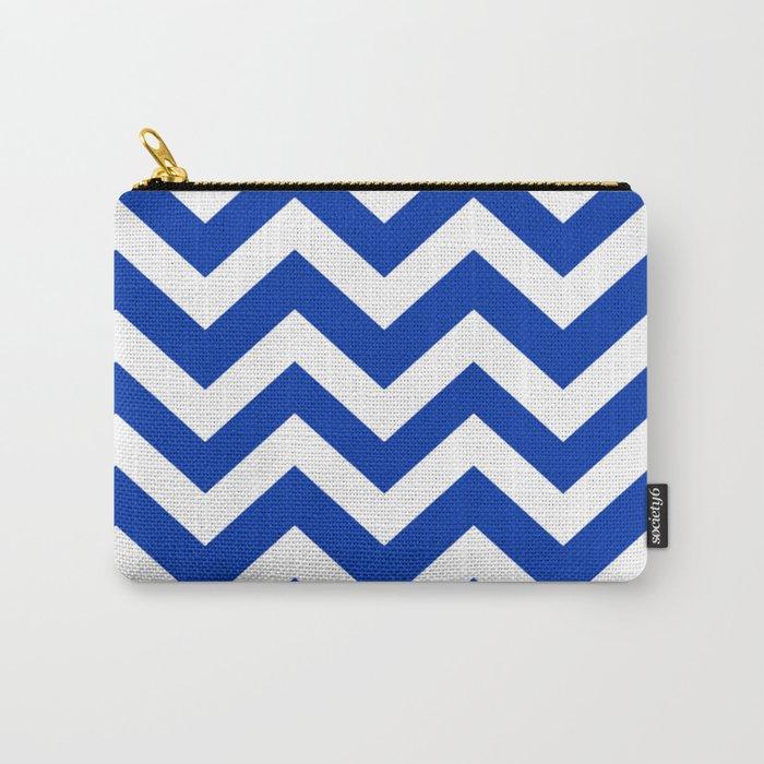 UA blue - blue color -  Zigzag Chevron Pattern Carry-All Pouch
